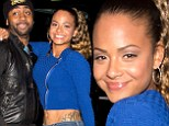 Hot to crop! Christina Milian flashes her massive tattoo in a stomach baring ensemble on a date night with fiance Jas Prince