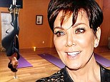 Keeping Upside Down With The Kardashians: Kris Jenner limbers up for a spot of pole dancing