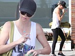 Charlize Theron shows off her perfectly slim pins as she heads to yoga class
