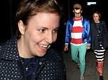 That looks like FUN! Lena Dunham and musician boyfriend Jack Antonoff skip off for date night
