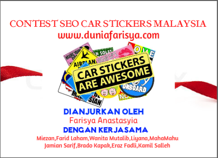 Custom Made Sticker Kereta