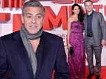 Dapper and dandy: Both George Clooney and Matt Damon looked smart for their London premiere of Monument Men