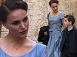 Pretty woman: Natalie Portman looks lovely in '40s era costume while shooting controversial movie in Israel