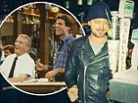Cheers, b****! Aaron Paul visits the legendary bar in Boston... where everybody knows his name