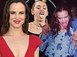 The original Miley! Juliette Lewis compares herself to Cyrus as she shares a 20-year-old snap of herself sticking out tongue