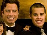 Religious support: After Jett, pictured between his mother and father with sister Ella Bleu, died, John Travolta was assigned Scientology minders who followed him day and night
