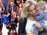 The best seat in the kingdom! Michael Bublé pushes wife Luisana in pushchair as his parents carry son Noah around Disneyland