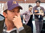 Party time: Ashton Kutcher and Mila Kunis, shown in January at a Los Angeles Lakers home game, celebrated his 36th birthday on Saturday at one of his favourite restaurants
