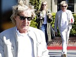 Whiter than white: Rod Stewart stepped out to get hot drinks with his daughter Ruby