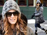 A boot-iful sight! Sarah Jessica Parker flaunts her terrifically trendy footwear in bitterly cold New York