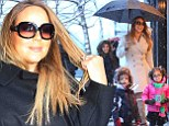 She's the mom: Mariah, shown on Wednesday in New York City, told a radio host that she regularly fires her nannies