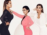 Kim Kardashian offers sneak peek at spring clothing collection she models with sisters Khloe and Kourtney... and all three look thinner than ever