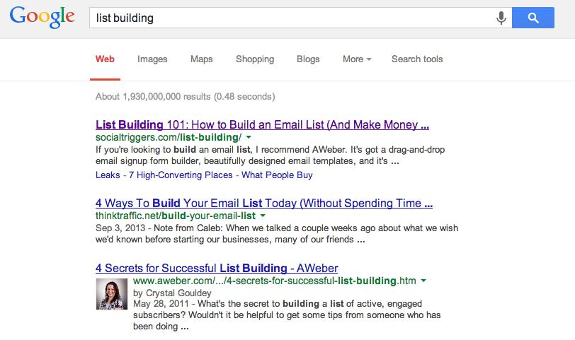 landing page seo google