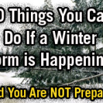 10 Things to Do if a Winter Storm Is Happening and You're Not Prepared
