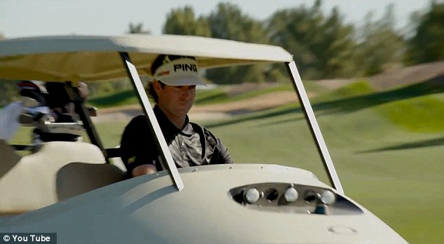 Speeding along: Bubba showed off his driving ability in a YouTube video posted on Tuesday