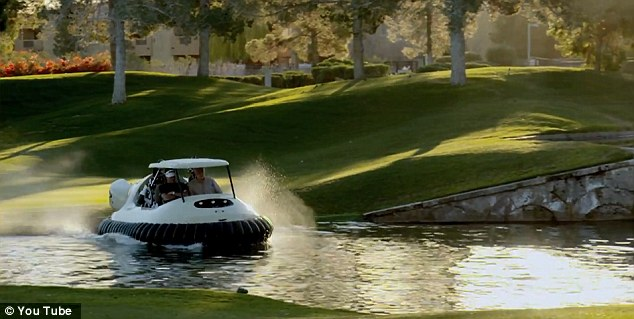 No hazard: Water hazards are no problem to the BW1 hovercraft, which can glide effortlessly across the surface of any pond
