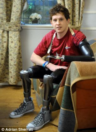 Cpl Tom Neathway lost both legs and his left arm in a bomb blast in Helmand