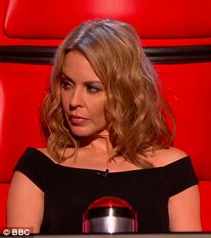 Impressed: Kylie loved Amelia's voice, and the young singer would go ion to pick her as a mentor