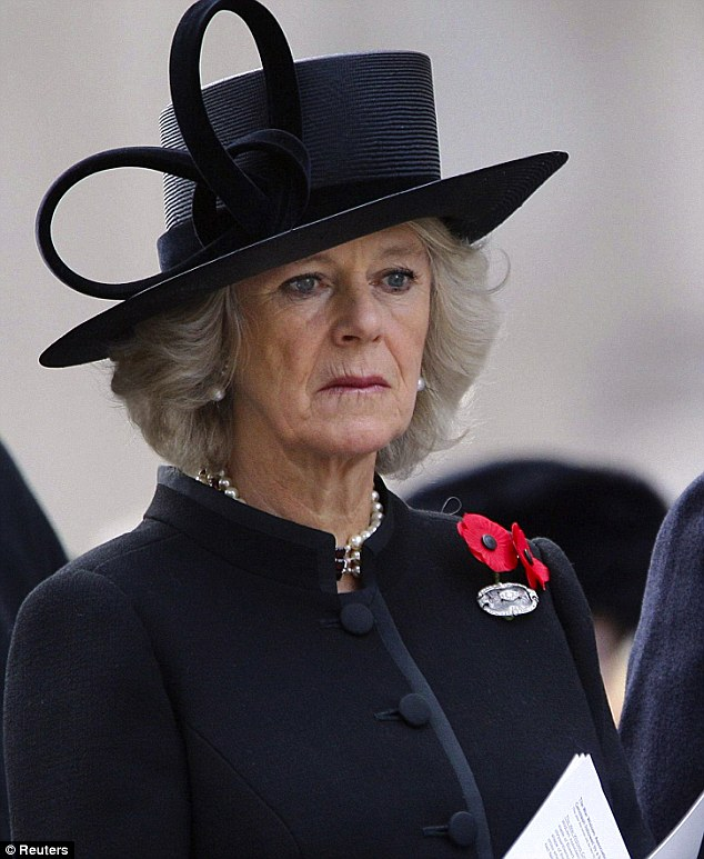 Honouring the fallen: The Duchess of Cornwall at a Remembrance Day service