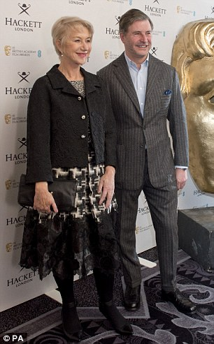 Say cheese: Helen and Jeremy attend a photo-call prior to the event on Saturday