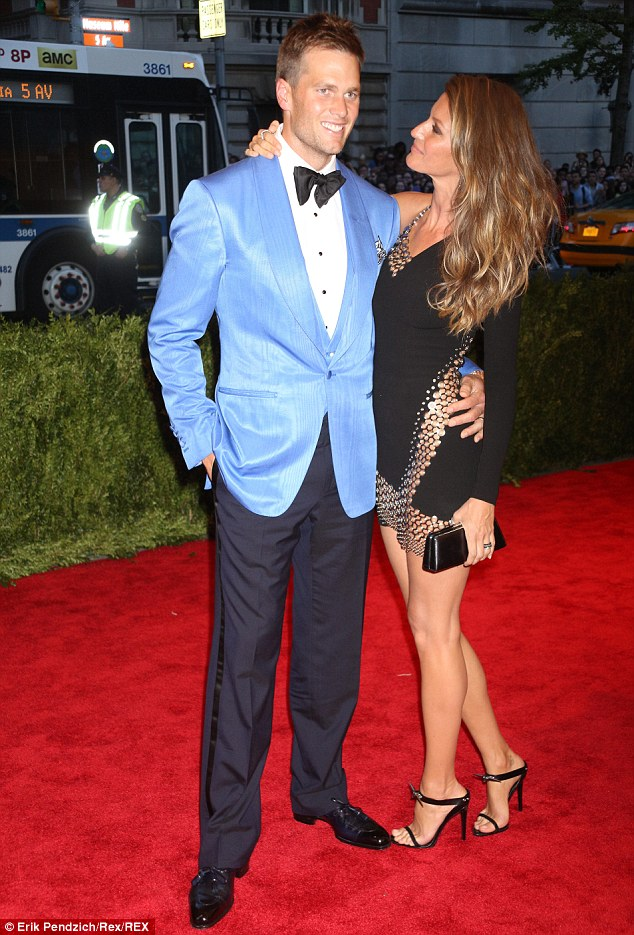 Stunning: Tom Brady and Gisele looked fabulous at the Costume Institute Gala last year