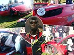Car smash: M'Baye Niang's Ferrari has been ruined