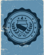 Collegiate Seal on Old Notebook