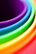 Rainbow Colored Buckets