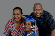 Graduate and parents