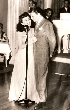 Connie with Frank Sinatra