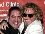 Hug it out! Rock star Sammy Hagar (right) and rock star chef Emeril Lagasse at Muhammad Ali's 70th birthday celebrations in 2012. The men have been friends for decades and have a shared passion for food and music