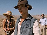River Phoenix, (centre), in the film 'Dark Blood with Judy Davis (left) and Jonathan Pryce (right)