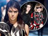 A burgeoning supermodel: Kendall Jenner strut her stuff in the Marc Jacobs fashion show during New York Fashion Week