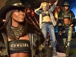 Naomi Campbell and Rita Ora at Philipp Plein show