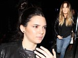 Sisters' night out! Kendall Jenner and Khloe Kardashian headed out for the evening to watch Miley Cyrus' latest gig