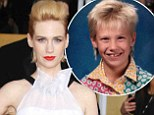 Flashback: January Jones shared this image of her nine-year-old self on Saturday