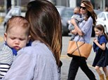 Welcome to the world, Tommy! Michelle Monaghan's four-month-old son pictured for first time on outing with his mother