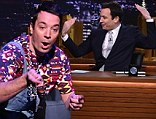 First show: Jimmy Fallon, shown during his debut as host of The Tonight Show on February 17 with Will Smith, pulled in the show's highest weekly ratings since 1993