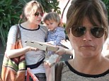 Mommy and me! Selma Blair treated her two-year-old son Arthur to another eventful Sunday morning at the farmer's market in Studio City