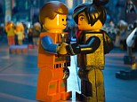 Love connection: Legos Emmet Brickowoski, who is played by Chris Pratt, is seen wth Wyldstyle, played by Elizabeth Banks