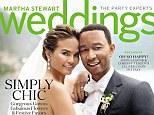 Newlyweds: Chrissy Teigen and John Legend grace the latest cover of Martha Stewart Weddings