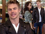 Unidentified friend: Derek Hough was hanging out with a mystery brunette on Sunday at an organic juice bar in West Hollywood, California