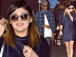 'I adore you!' Kylie Jenner carries a romantic heart-shaped balloon as she enjoys a day out with mystery boy