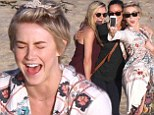 Fun in the sun! Julianne Hough seems to be having a blast as she takes a selfie with her girlfriends while on a beach trip