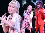 Miley Cyrus lets her vocals take centre stage as she performs with The Flaming Lips... but not without dropping a few F-bombs first