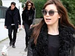 Super stylish: Daisy Lowe is chic in an all-black outfit while out and about in London