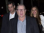 On screen and off screen lovers: Sofia stepped out with her fiance (back left) and on-screen husband Ed O'Neill (front)