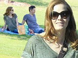A date with nature! Amy Adams and husband Darren Le Gallo treat daughter Aviana to a sunny picnic in the park