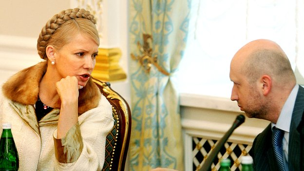 Yulia Tymoshenko and Olexander Turchynov - seen after their return to government in 2007 - have long worked together