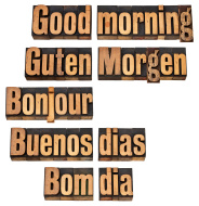 Good morning in 5 languages